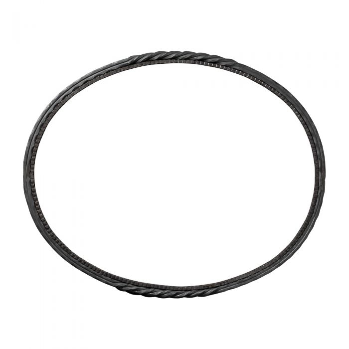 560x690mm Oval Ring 16x16 Hammered Edge