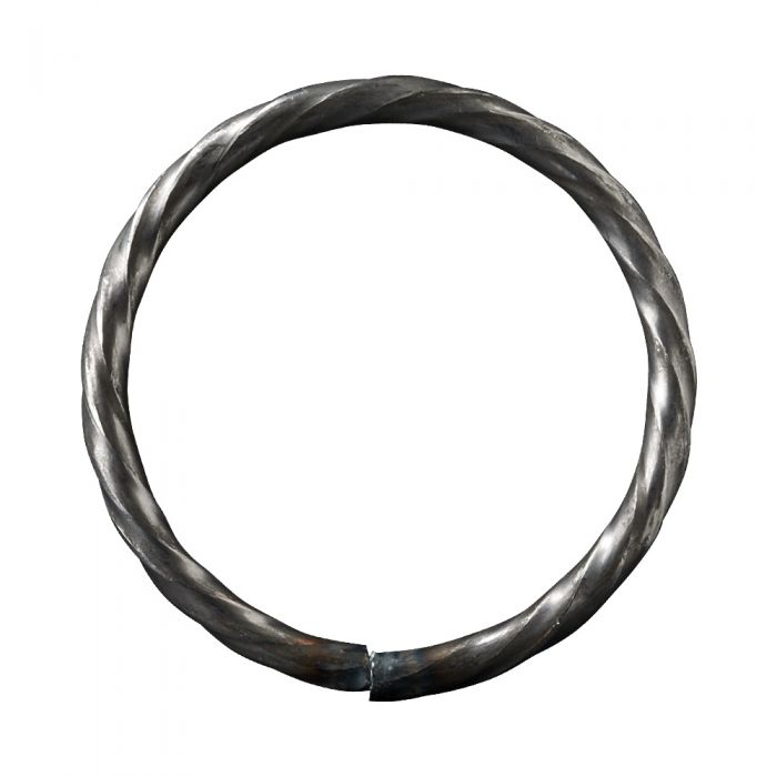 75mm DIA Ring 6mm Twisted Bar
