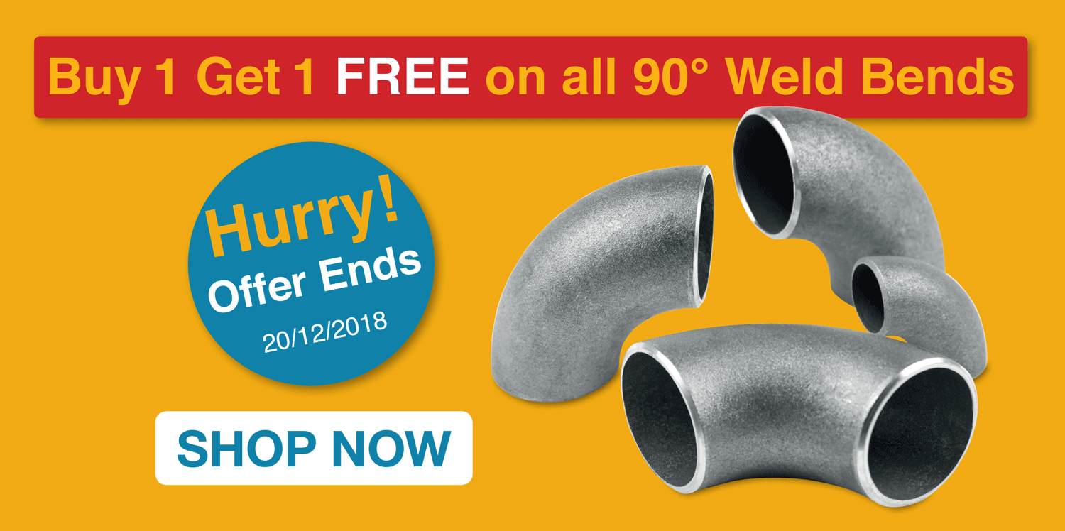 Buy one get one free on 90 Degree Weld Bends